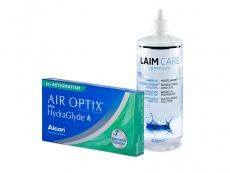 Air Optix plus HydraGlyde for Astigmatism (3 Linsen) + Laim-Care 400 ml