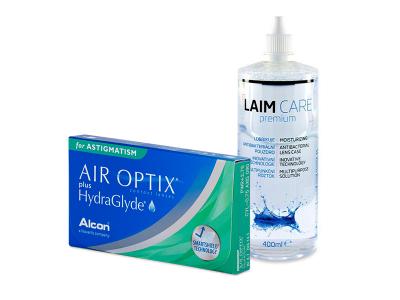 Air Optix plus HydraGlyde for Astigmatism (6 Linsen) + Laim-Care 400 ml