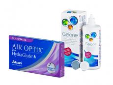 Air Optix plus HydraGlyde Multifocal (6 Linsen) + Gelone 360 ml