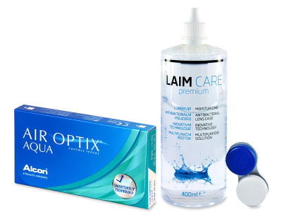Spar-Set - Air Optix Aqua (6 Linsen) + Laim Care 400ml