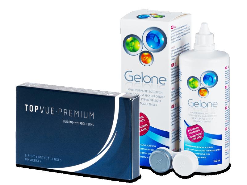 TopVue Premium (6Linsen) +Gelone360ml - Spar-Set