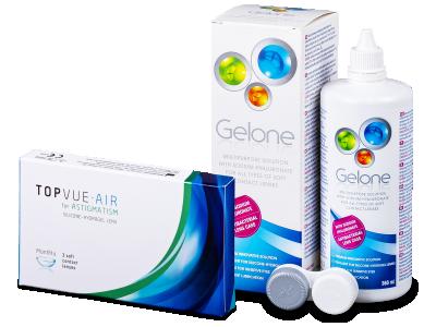 TopVue Air for Astigmatism (3Linsen) +Gelone 360ml