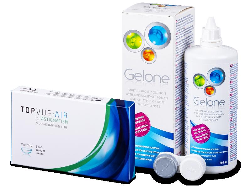 TopVue Air for Astigmatism (3Linsen) +Gelone 360ml - Spar-Set