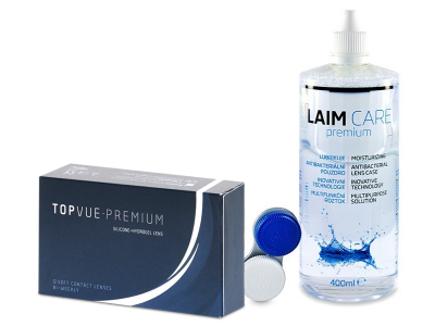 TopVue Premium (12 Linsen) + Laim-Care 400 ml