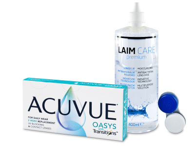 Acuvue Oasys with Transitions (6 Linsen) + Laim-Care Pflegemittel 400 ml