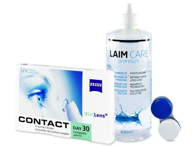 Carl Zeiss Contact Day 30 Compatic (6 Linsen) + Laim Care 400ml