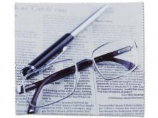 Zubehör für Brillen - Brillenputztuch - Zeitung
