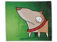 Zubehör für Brillen - Brillenputztuch - Hund