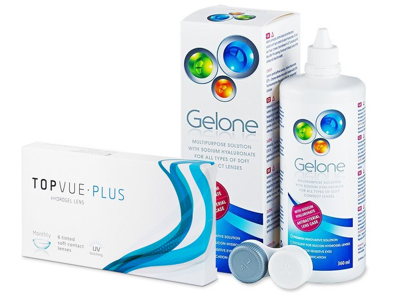TopVue Plus (6 Linsen) + Gelone 360 ml - Spar-Set