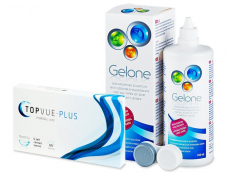 Günstige Linsen-Pakete - TopVue Plus (6 Linsen) +Gelone 360ml