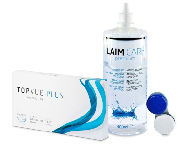 TopVue Plus (6 Linsen) + Laim Care 400 ml - Spar-Set