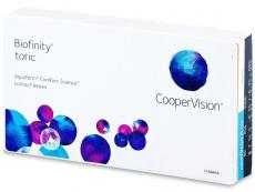 Monatslinsen - Biofinity Toric (3Linsen)