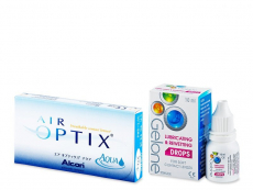 Air Optix Aqua (6 Linsen) + Gelone Drops 10 ml
