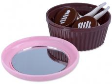 Behälter und Reise-Kits - Kassette mit Spiegel Muffin - rosa