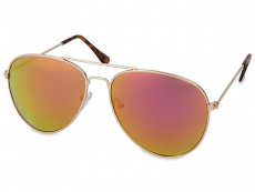 Sonnenbrillen Damen - Sonnenbrille Gold Pilot - Pink/Orange