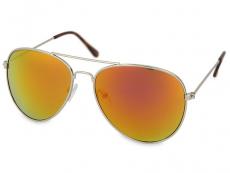 Sonnenbrillen Damen - Sonnenbrille Silver Pilot - Pink/Orange