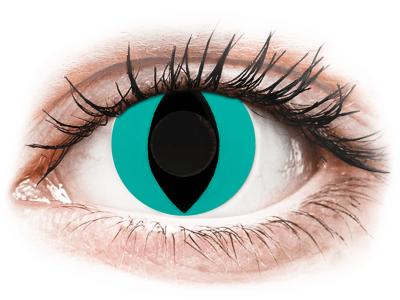 CRAZY LENS - Cat Eye Aqua - Tageslinsen ohne Stärke (2 Linsen)