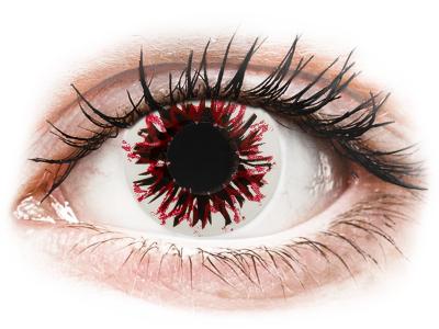 CRAZY LENS - Harlequin Black - Tageslinsen ohne Stärke (2 Linsen)