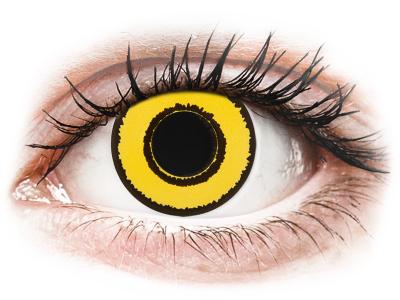 CRAZY LENS - Yellow Twilight - Tageslinsen mit Stärke (2 Linsen)