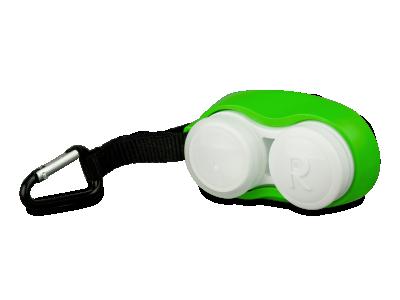 Grüner Linsenbehälter mit Karabiner