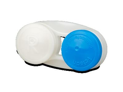 Blauer antibakterieller Linsenbehälter