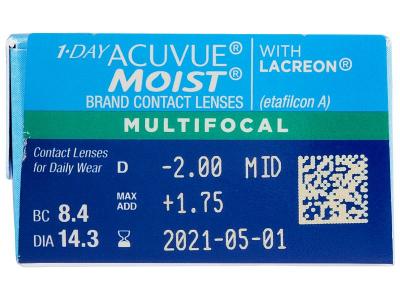 1 Day Acuvue Moist Multifocal (30 Linsen) - Vorschau