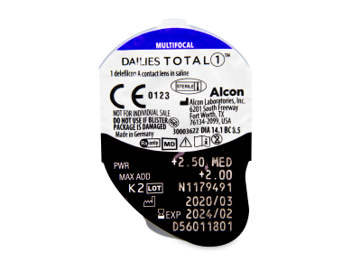 Dailies TOTAL1 Multifocal (90 Linsen) - Blister Vorschau