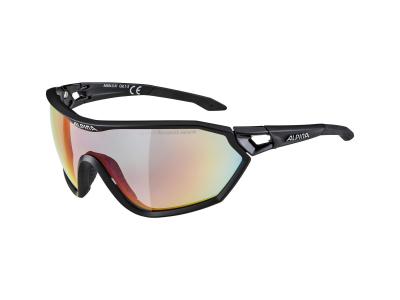 Sonnenbrillen Alpina S-Way QVM+ Black Matt/Quattro Varioflex Rainbow Mirror