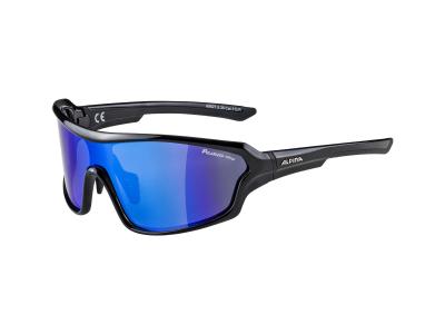 Sonnenbrillen Alpina Lyron Shield P Black/Blue Mirror