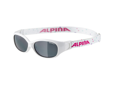Sonnenbrillen Alpina Sports Flexxy Kids White Dots