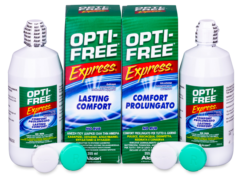 OPTI-FREE Express 2 x 355 ml  - Economy duo pack- solution