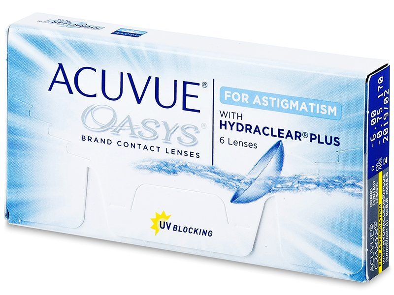 Acuvue Oasys for Astigmatism (6 Linsen) - Torische Kontaktlinsen - Johnson and Johnson