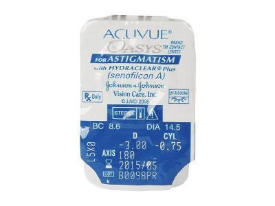 Blister Vorschau - Acuvue Oasys for Astigmatism (6Linsen)