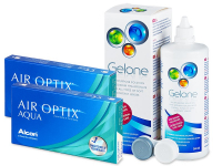 Air Optix Aqua (2x3 Linsen) +  Gelone 360ml